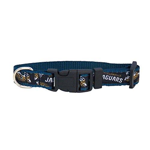 Jacksonville Jaguars Dog Collar - NFL Jacksonville Jaguars Team Pet Ribbon Collar, Large