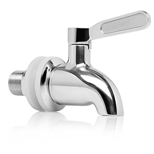 YL Stainless Steel Beverage Dispenser Replacement Spigot,Stainless Steel Polished Finished, Water Dispenser Replacement Faucet (12mm diameter)