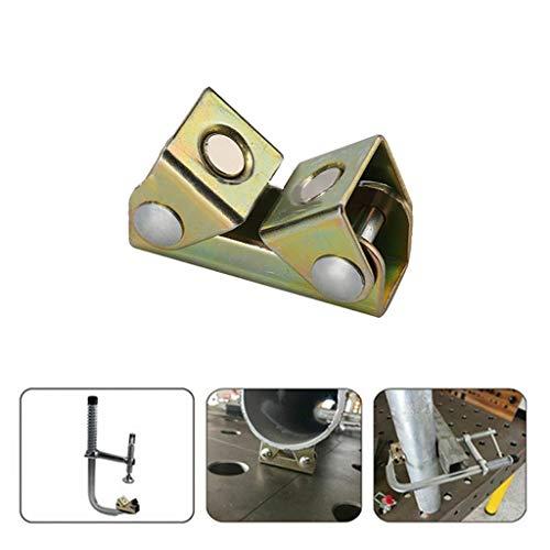 kitt V-Welding Fixture, V Type Magnetic Welding Clamps Holder Suspender Fixture Adjustable V Pads Strong ()