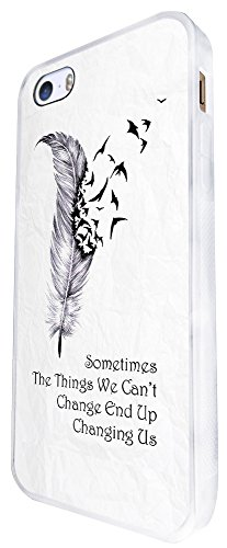 252 - Quote Sometimes You Fall Before You Fly Design iphone SE - 2016 Coque Fashion Trend Case Coque Protection Cover plastique et métal - Blanc