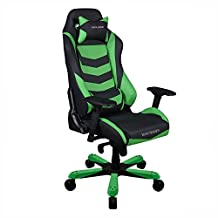 Dxracer Racing Bucket Seat office chair X large DOH/IF166/NE Newedge Edition PC gaming chair computer chair executive chair ergonomic rocker With Pillows (Black/Green)