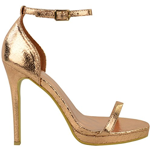 Toe Gold Size Barely High Crinkle Thirsty There Peep Heel Womens Rose Buckle Sandals Ankle Strappy Fashion 7XS6B
