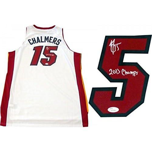 Autographed Mario Chalmers Jersey - 2013 Champs White JSA - Autographed NBA  Jerseys cheap 00a586c60