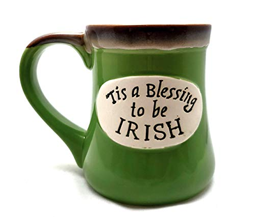 (Irish Green 20oz Pottery Coffee mug