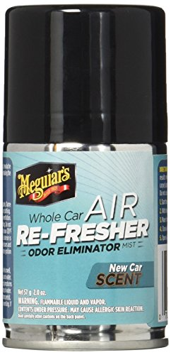 Meguiar's Whole Air Re-Fresher Odor Eliminator Mist – New Car Scent – G16402, 2 oz (Liquid Perfume Deodorant)