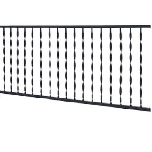 Aluminum Deck Railings - GILPIN IRONWORKS 573 4' Black Windsor Rail