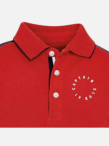 L//s Print Polo for Boys Mayoral Red 3125