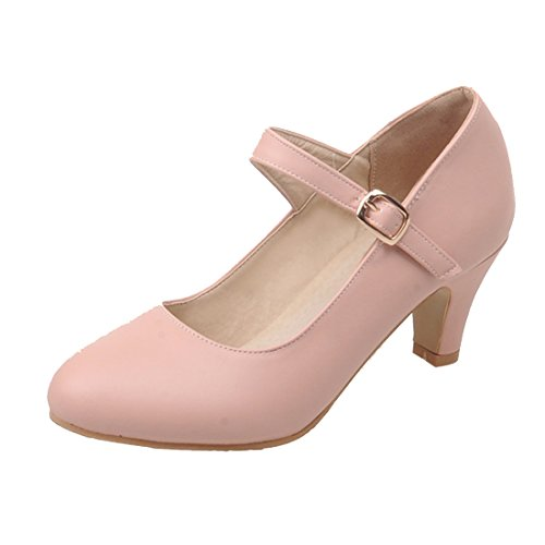AIYOUMEI Damen Mary Janes Pumps mit Blockabsatz und 5cm Absatz Chunky Heels Riemchen Schuhe ccI2k