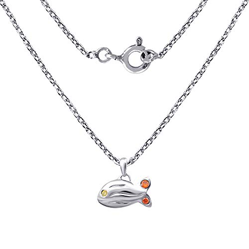 0.10 Ct Yellow Round Lemon Quartz And Red Cz 925 Sterling Silver Pendant For Women: Nickel Free Cute And Simple Wedding Gift For Sister