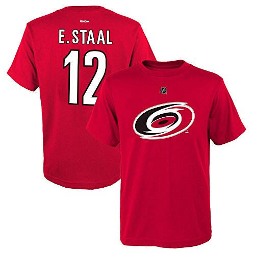 (Outerstuff Eric Staal NHL Reebok Carolina Hurricanes Red Premier Jersey T-Shirt Youth S-XL)