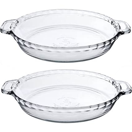 Anchor Hocking 9.5u0026quot; Deep Pie Plate ...  sc 1 st  Amazon.com & Amazon.com: Anchor Hocking 9.5