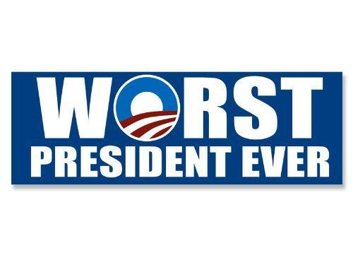 MAGNET NOBAMA: Worst President Ever Magnetic Sticker (anti obama decal)
