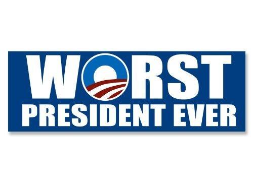 NOBAMA: Worst President Ever Sticker (anti obama decal)