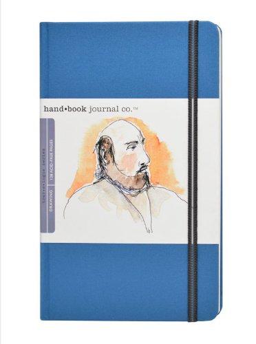 Global Art Materials Hand Trav-e-Logue Drawing Book 8.25 5.5-Inch, Large Portrait in Ultramarine Blue Artist Journal ()