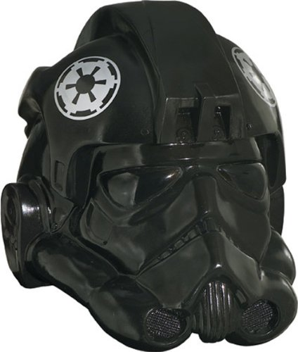 Star Wars Rubie's Men's Collectors Edition Fighter Helmet, Black, One (Tie Fighter Helmet Costume)