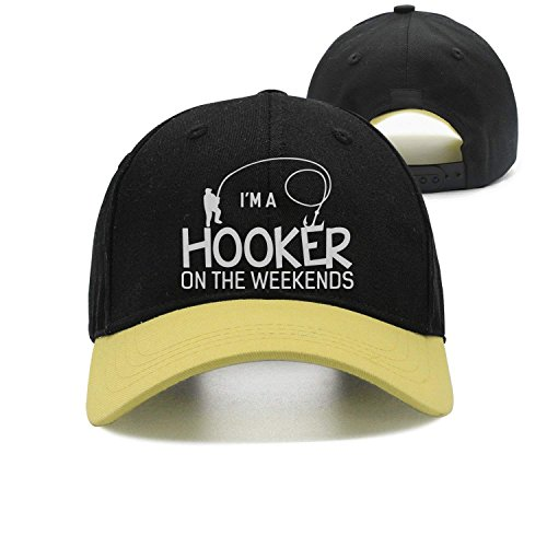 84b00ffc6b299 cap baseball Hooker On The Weekend Funny Fishing Washed Retro Adjustable  Cowboy Hat Leisure Hats ForMan And