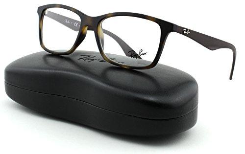 d3be08d619 Ray-Ban RX7047 Unisex Rectangular Eyeglasses (Matte Havana Frame 5573