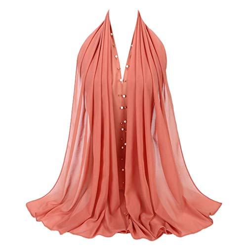 Cap Baseball Silk (Staron Women Scarves Solid Color Fashion Chiffon Scarf Muslim Soft Shawl Wrap Scarf (Red))