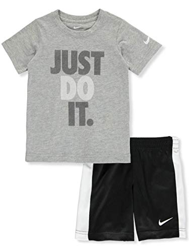 Nike Boys' 2-Piece Shorts Set Outfit - Black, 7