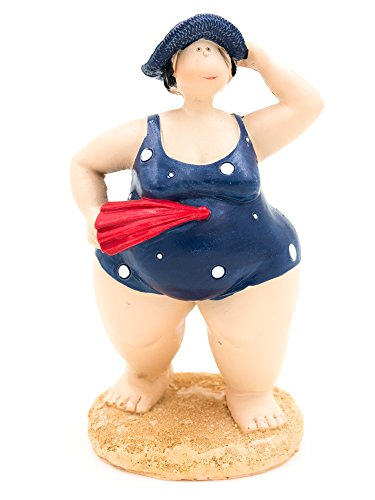 [Fat Lady in Swimming Costume Ornament (Navy)] (Fat Lady Costumes)