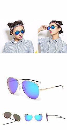 El Xiaogege Reflectante De Lentes Sol Género Gafas Ópticas Color Sesgo dOrSxO