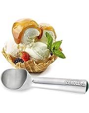 Zeroll 1016 Original Ice Cream Easy Scoop with Unique Liquid Filled Heat Conductive Handle Simple One Piece Aluminum Design Easy Release 32 Scoops per Gallon Made in USA, 2.5-ounce, Silver