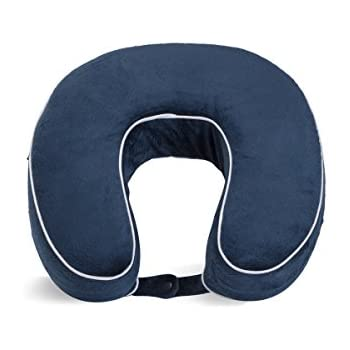 World's Best Cushion/Soft Memory Foam Neck Pillow, Navy