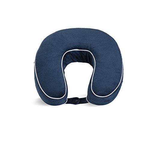 World's Best Cushion/Soft Memory Foam Neck Pillow, Navy