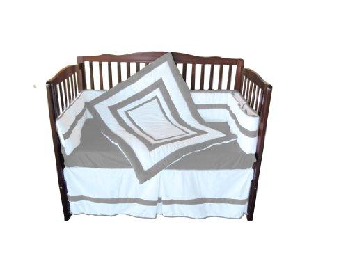 Baby Doll Bedding  Modern Hotel Style Crib Bedding Set, Grey by BabyDoll Bedding (Image #1)