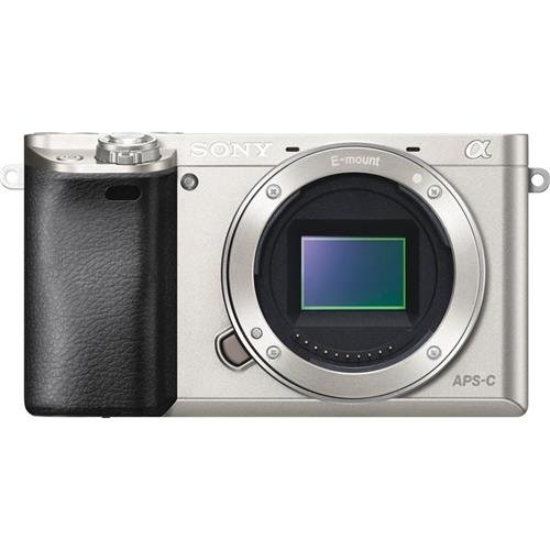 Sony Alpha a6000 Mirrorless Digital Camera 24.3MP SLR Camera with 3.0-Inch LCD – Body Only (Silver)