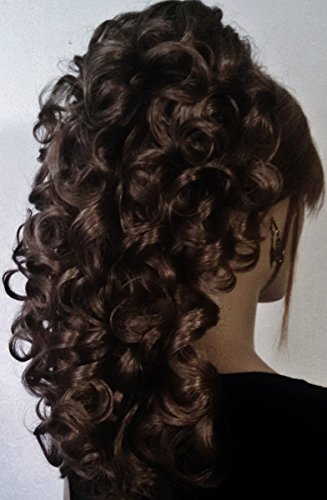 - RIVA Banana Clip Hairpiece by Mona Lisa - 6 Dark Chestnut Brown
