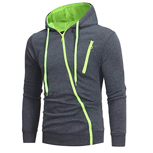 Men's Fashion Solid Long Sleeve Casual Hoodie Sweatshirt Drawsting Jacket Coat Outwear ()