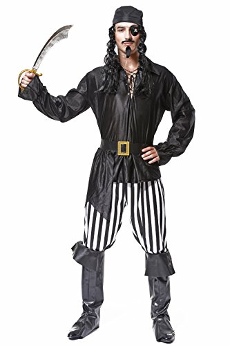 Best Superhero Couple Costumes (Veroman Men's Halloween Costume (Pirate))