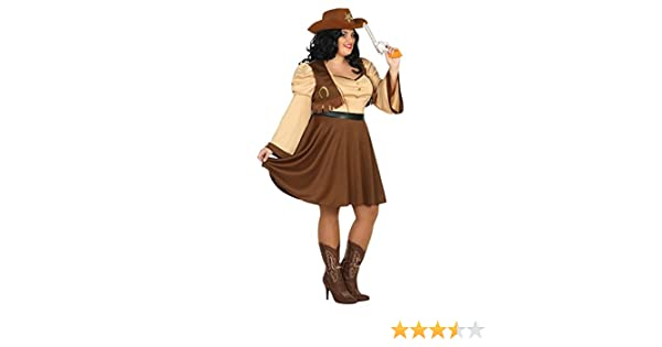 Atosa-31491 Disfraz Mujer Cowgirl Vaquera, Color Amarillo, XXL ...