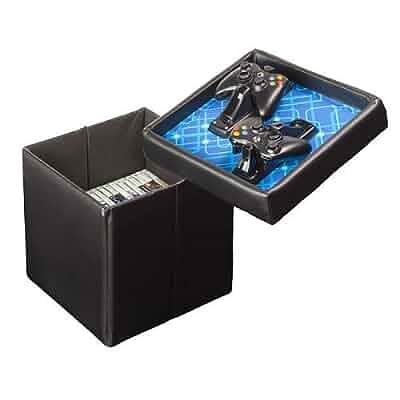 Amazon Com Arsenal Folding Gaming Storage Ottoman Black