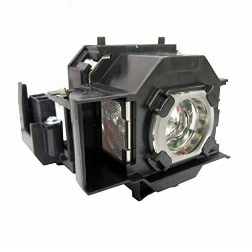 FL ELPLP68 V13H010L68 Projector Video Lamp Bulb Replacement With Housing For Home Cinema 3010 3020E EH TW6000 EH TW5900 V11H421020 V11H450020 Original Lamps Wick and Reflector With Genie Cover Sharp Picture 2500 hrs Life High Definition and Brightness ()