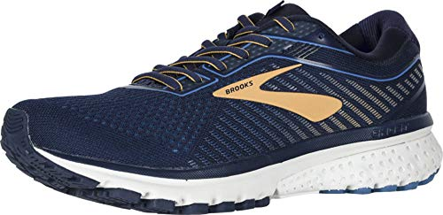 Brooks Men's Ghost 12 Navy/Deep Water/Gold 11 D US (Best Running Shoes For Supination)