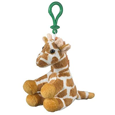 Stuffed Giraffe Clip Toy Keychain By Wild Life Artist, 5 inches: Toys & Games