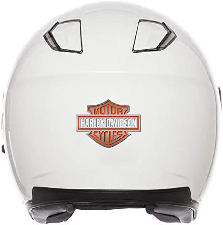 Adhesivos retroreflectantes para casco Harley Davidson color naranja