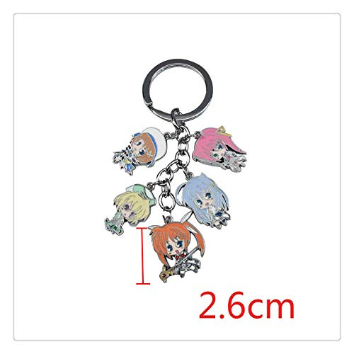 (YshengHu Accessories Anime Cosplay Costume Keyring Pendant Metal Necklace Game Model Keychains)