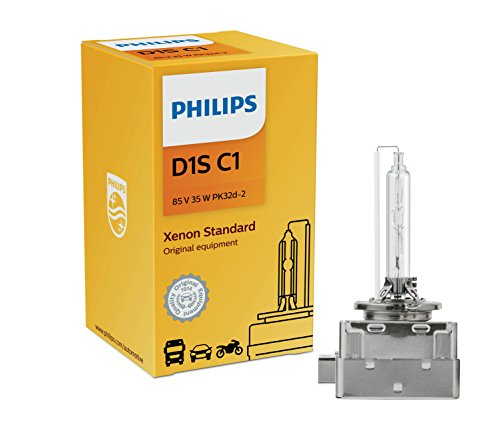 Philips D1S Standard Authentic Xenon HID Headlight Bulb, 1 Pack (85415C1)