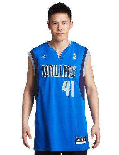 NBA Dallas Mavericks Dirk Nowitzki Blue Replica Jersey, Large