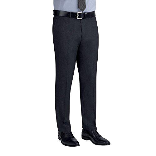 Brook Taverner - Pantalones formal trabajo tallaje Slim Modelo Cassino hombre caballero Azul marino