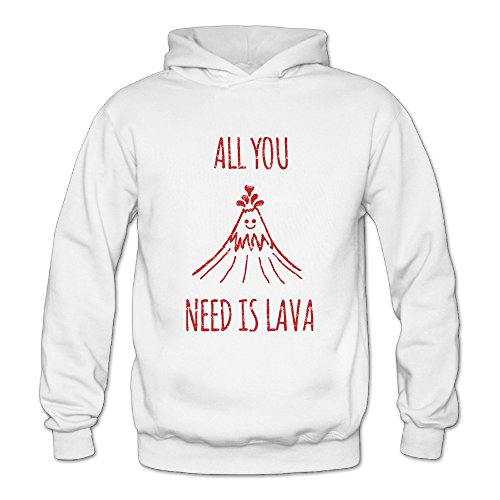 Spoof All You Need Is Volcano Classic Women's Hooded Sweatshirts White XL]()