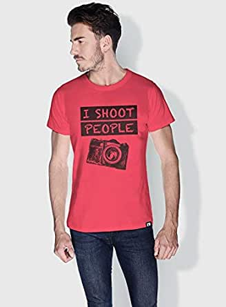 Creo I Shoot People Funny T-Shirts For Men - L, Pink