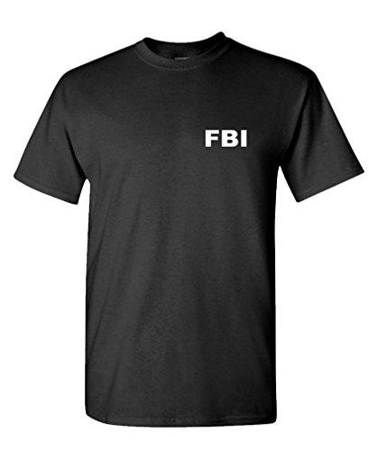 FBI - Novelty Duty Bureau Investigation - Mens Cotton T-Shirt, M, Black