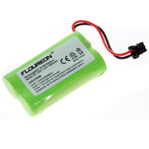 Floureon 2-Pack Premium High Capacity 1800mAh Equivalent BT-1007 , Bt1007 BT-904 , BT904 , BBTY0707001 Replacement Battery