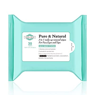 Soees Tean MakeupRemoverWipes Sensitive Facial Cleansing Towelettes 30 Count