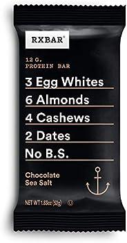 RXBAR, Chocolate Sea Salt, Protein Bar, 1.83 Oz (Pack of 12) High Protein Snack, Gluten Free