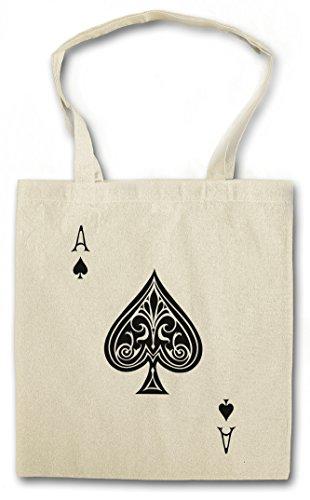 ACE OF SPADES I Hipster Shopping Cotton Bag Cestas Bolsos Bolsas de la compra reutilizables - culo Spade Ace Poker As Card Casino Las Karte Royal Flush Pik Cards 23 Vegas